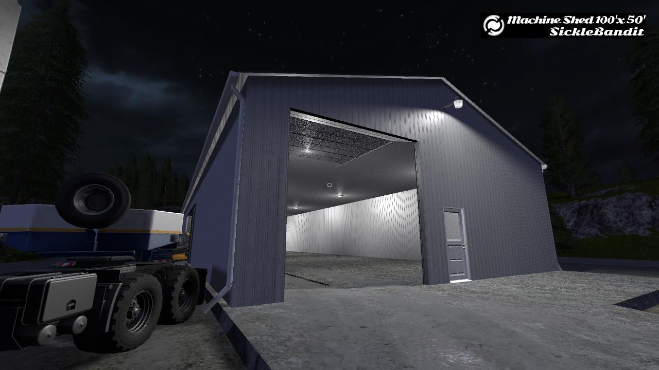 MACHINE SHED – 100X50 (FUNCTIONAL) V1.0 MOD
