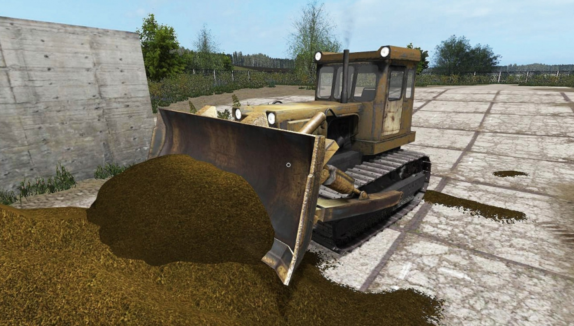 T-130 with a blade V1.0 FS17