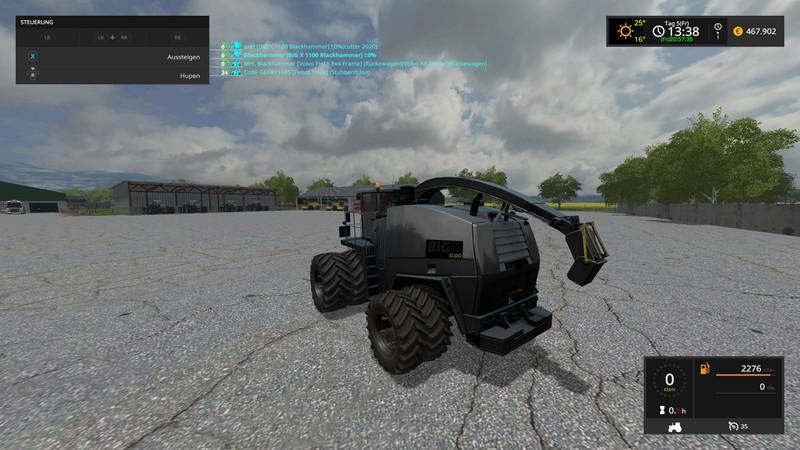 KRONE BIGX1100 BLACKHAMMER V2.0 MOD