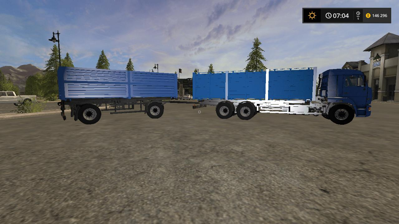 PACK KAMAZ 65117 AND 2 TRAILERS V1.6 FS 2017