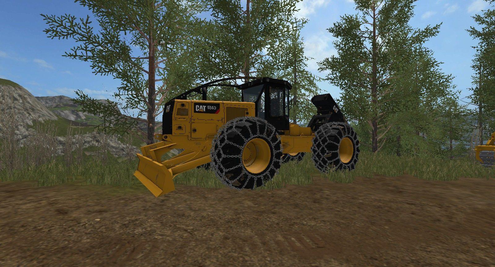 CAT 555D SKIDDER RELEASE V2.0 FS17