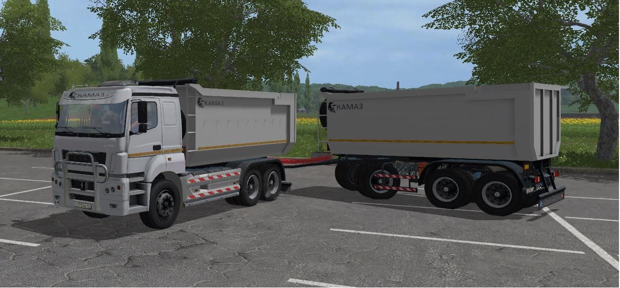 Kamaz K3340 + Pótkocsi