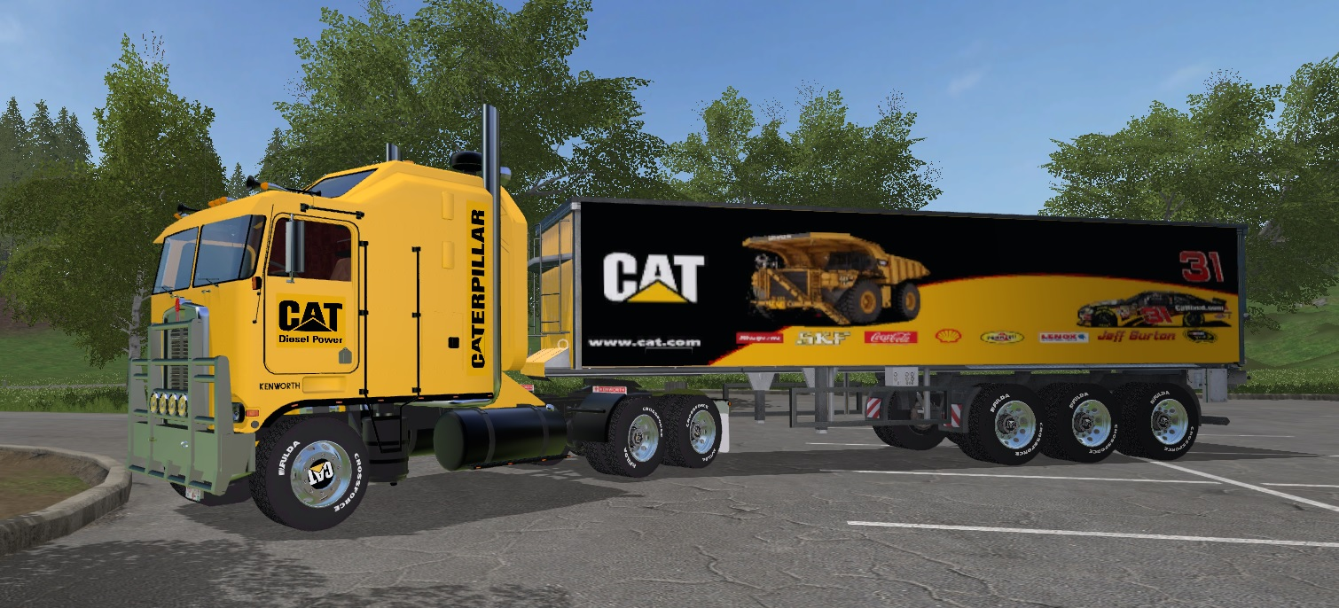 Cat Kenworth K100 + Trailer